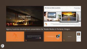Agency business development presentation for Trestle Media in Portland, Oregon.