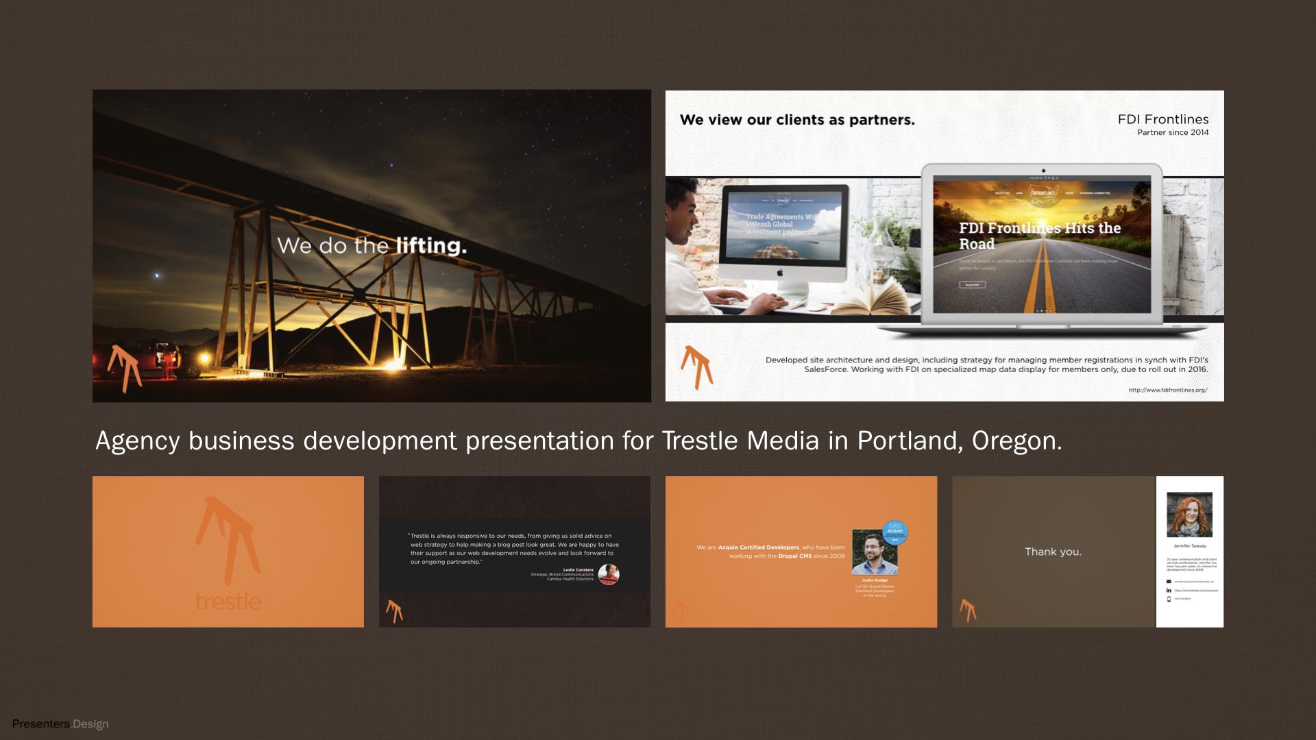 Trestle Media Business Development Keynote Design