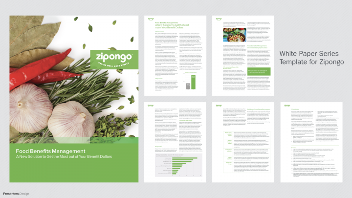 Business White Paper Series Template for Zipongo